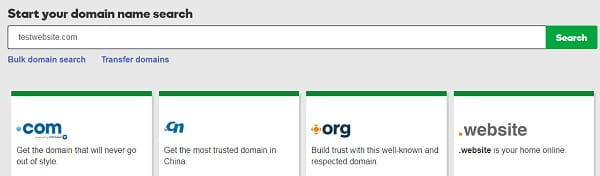 CMS - Domain Search