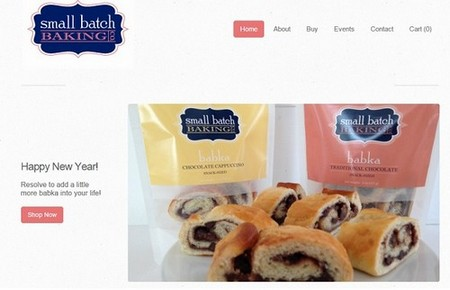 Websites built with Weebly - Small Batch Baking