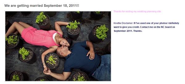 Weebly Wedding Website Example - Future Mrs Brake