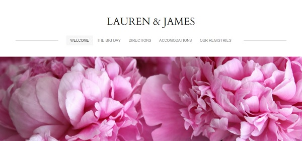 Weebly Wedding Website Example - Lauren and James