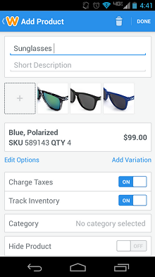 Weebly for Android - Commerce