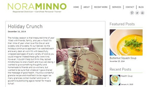 Wix Blogs Examples - NoraMinno
