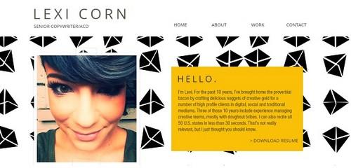 Wix portfolio examples - Lexi Corn