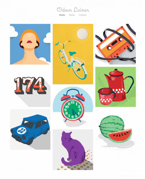 Wix themes - Bright blocked illustrator portfolio