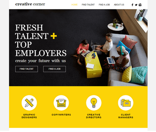 Wix themes - Creative staffing agency