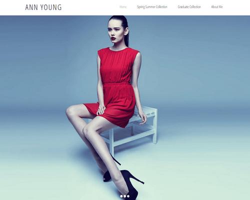 Wix themes - Minimalist fashion designer portfolio