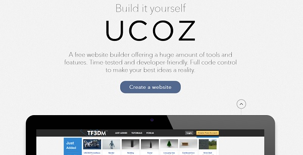 uCoz - Retail Website builder