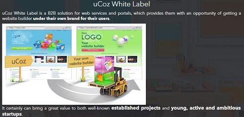 uCoz white label