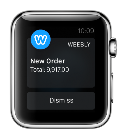 Weebly for Apple Watch