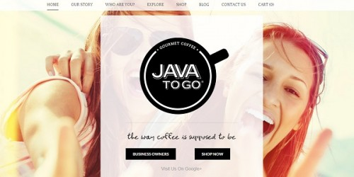 Weebly sample site - Java to Go