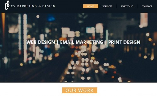 CS Marketing and Design - Wix website examples
