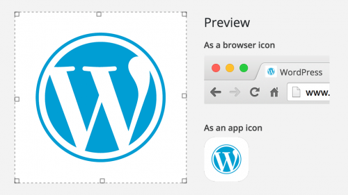 WordPress Site Icon Customizer