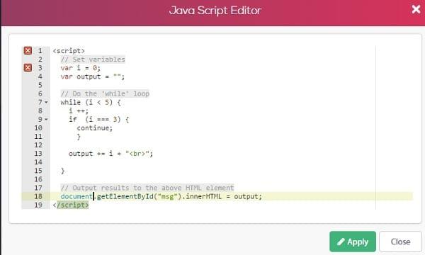 Simbla JS Editor