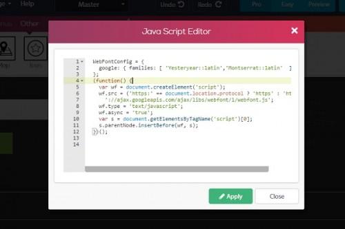 Simbla JavaScript editor