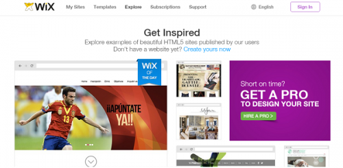 Wix get inspired