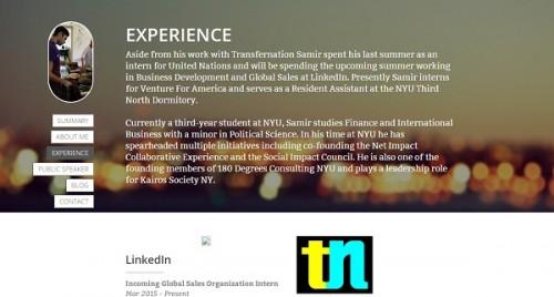 Samir's personal website