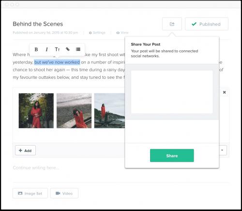 Format social sharing