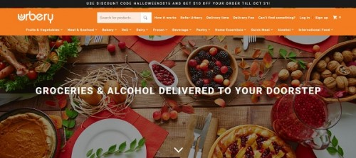 Shopify website example - Urbery