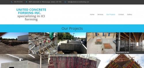 UnitedConcreteForming - uKit Website Examples