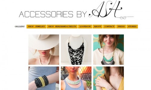 Jimdo example site - Accessories by Allison