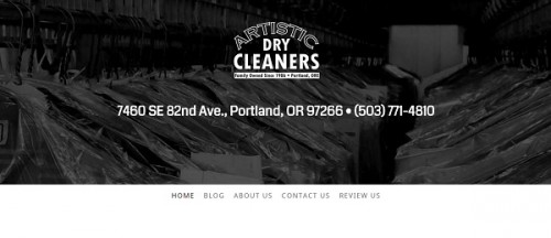 Jimdo example site - Artistic Dry Cleaners