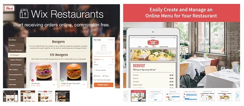 Wix restaurantes