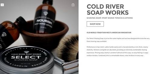 Weebly Blogs Examples - Cold River Soap Works