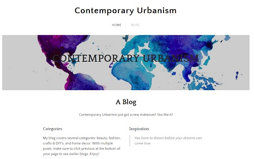 Weebly blogs examples - Contemporary Urbanism