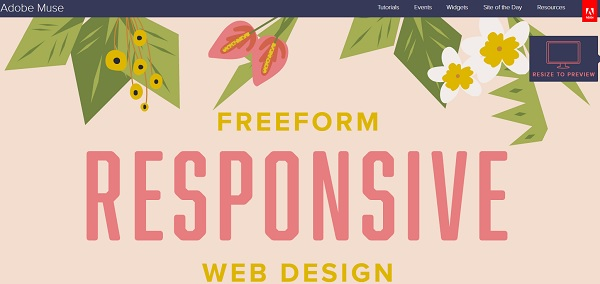 Adobe Muse Featured