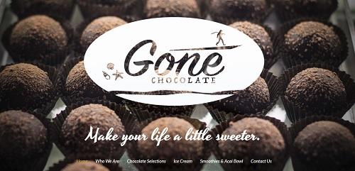 GoneChocolate - MotoCMS example website