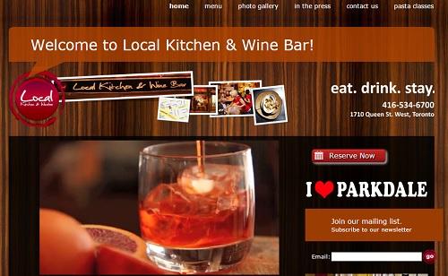 Yola Example Website- Local kitchen