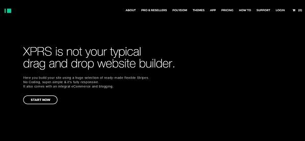 XPRS website builder - homepage