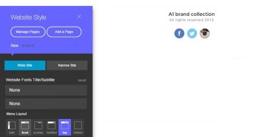 XPRS website builder - managing website