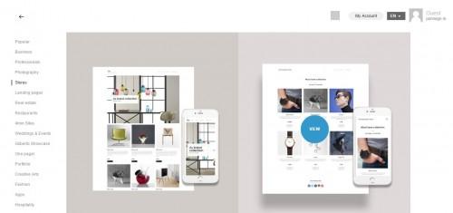 XPRS website builder - select a theme