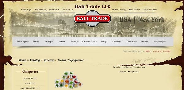 Balttrade - uCoz Website Examples