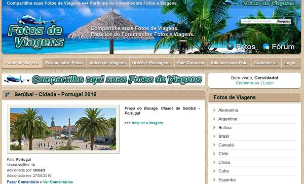 Fotos de Viagens - uCoz Website Examples
