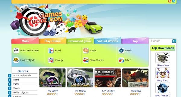 Games.ucoz.com - uCoz Website Examples