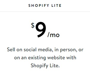 Shopify Pricing Lite