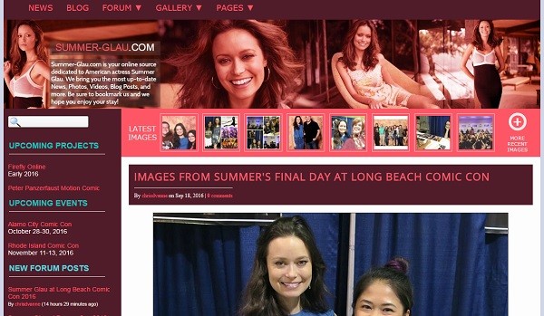 Summer Glau - uCoz Website Examples