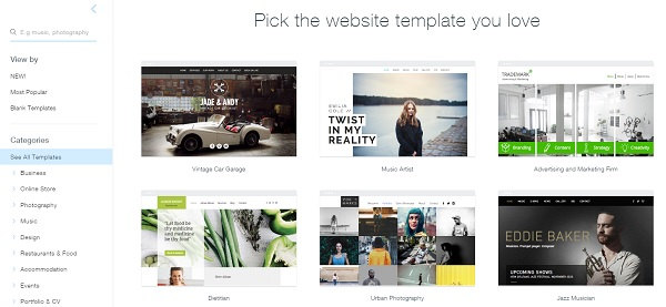 Wix Templates - Wix Website Builder