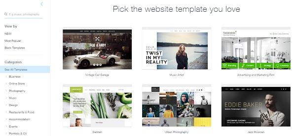 Wix Templates - Wix Website Builder