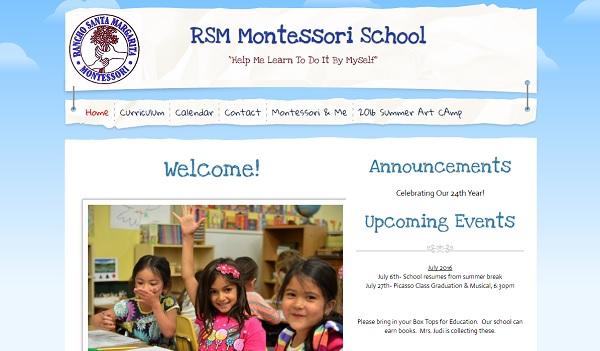 RSM Montessori - Webs Website Examples