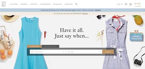 RenttheRunway - Squarespace website examples