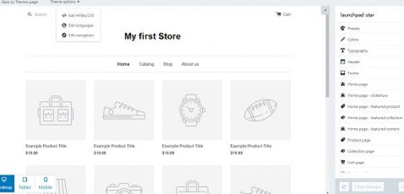 Shopify Editor