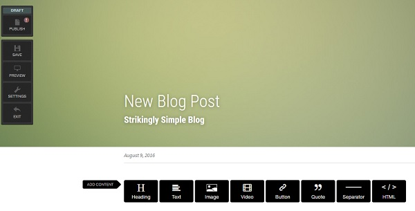 Strikingly Simple Blog
