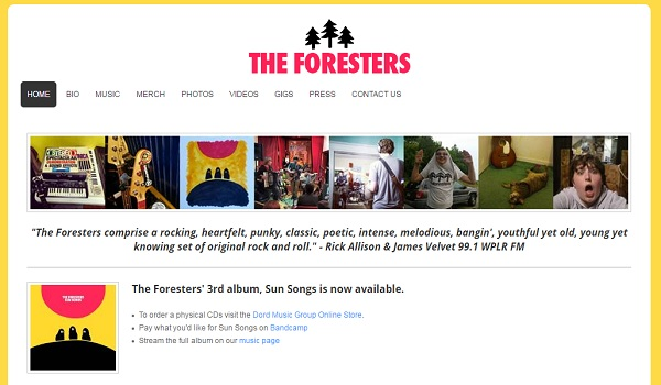 The Foresters - Webs Website Examples