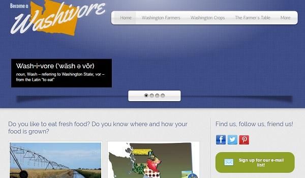Washivore - Webs Website Examples