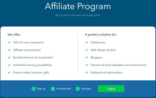 uKit Affiliate - uKit Website Builder