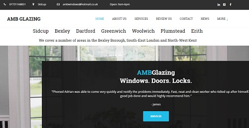 AMB Glazing - uKit Website Examples