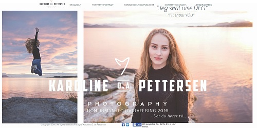 Karoline Peterson - Wix website examples